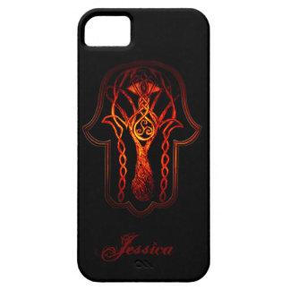 Celtic Hamsa Hand (Orange/Red) iPhone SE/5/5s Case