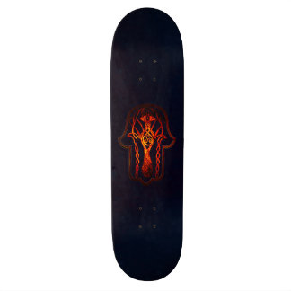 Celtic Hamsa Hand (Orange/Red) Skateboard Deck
