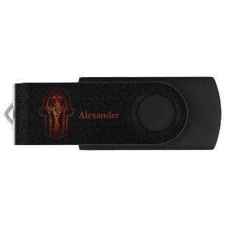 Celtic Hamsa Hand (Orange/Red) USB Flash Drive