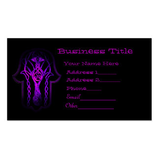 Celtic Hamsa Hand (Purple) Double-Sided Standard Business Cards (Pack Of 100)