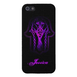 Celtic Hamsa Hand (Purple) Case For iPhone SE/5/5s