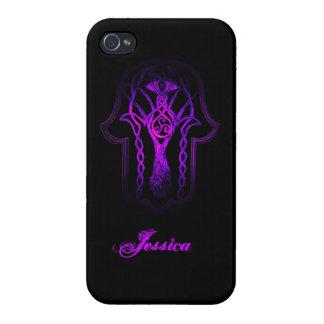 Celtic Hamsa Hand (Purple) Cases For iPhone 4