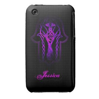 Celtic Hamsa Hand (Purple) iPhone 3 Case-Mate Case