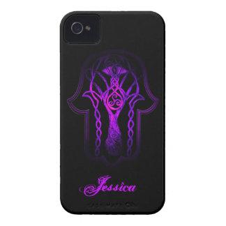 Celtic Hamsa Hand (Purple) iPhone 4 Case-Mate Case