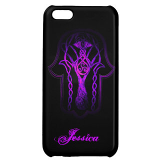 Celtic Hamsa Hand (Purple) iPhone 5C Case