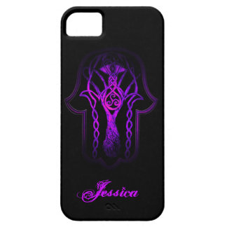 Celtic Hamsa Hand (Purple) iPhone SE/5/5s Case