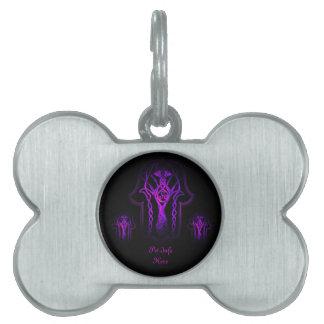 Celtic Hamsa Hand (Purple) Pet ID Tag