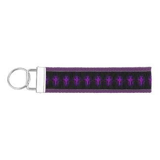Celtic Hamsa Hand (Purple) Wrist Keychain