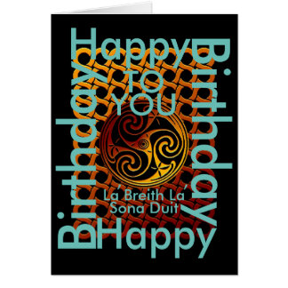 Celtic Happy Birthday To You Greeting Card