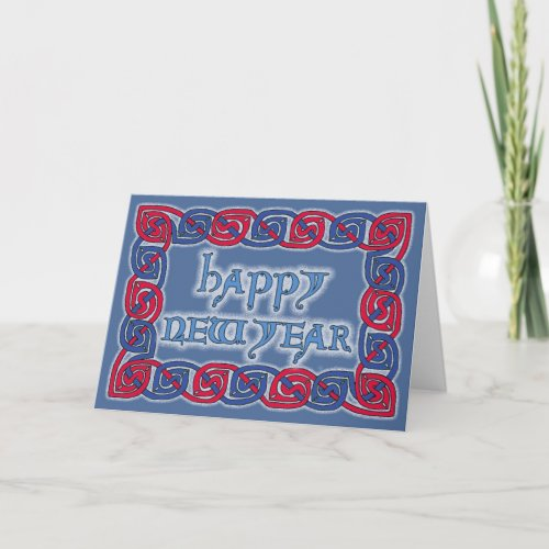 Celtic Happy New Year Greeting Card