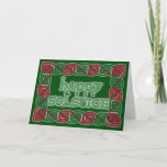 Celtic Happy Solstice Greeting Card