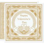 Celtic Happy Valentine's Day with Irish Claddagh Card