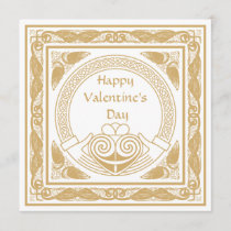 Celtic Happy Valentine's Day with Irish Claddagh Holiday Card