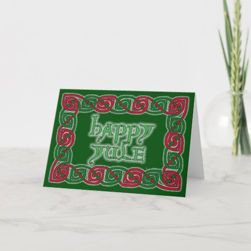 Celtic Happy Yule Greeting Card