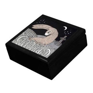 Celtic Hare Deluxe Tile Trinket Box