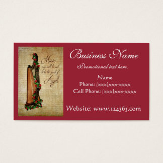 Celtic Harp Business Card