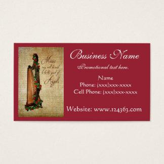 Celtic Harp Business Card