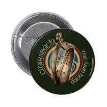 Celtic Harp Button (Dark)