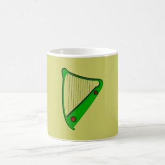 Celtic harp celtic harp coffee mugs