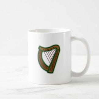 Celtic harp celtic harp coffee mug