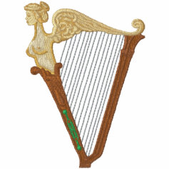 Celtic Harp Embroidered Jacket