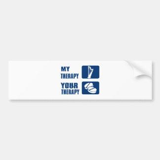 CELTIC harp is my therapy Car Bumper Sticker