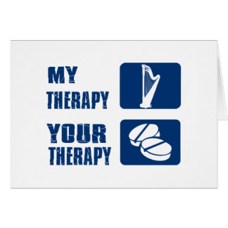 CELTIC harp is my therapy Greeting Card