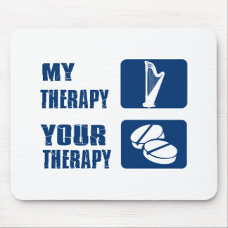 CELTIC harp is my therapy Mouse Pad