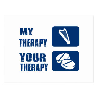 CELTIC harp is my therapy Postcard