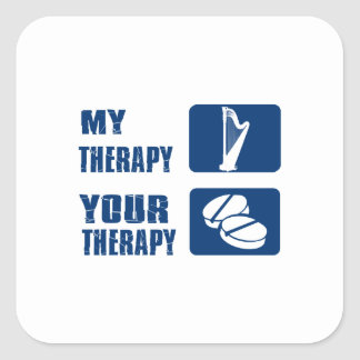 CELTIC harp is my therapy Square Sticker