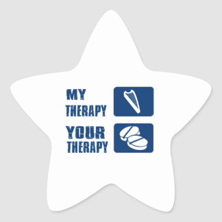 CELTIC harp is my therapy Star Sticker