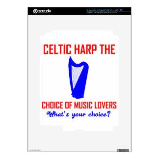 Celtic Harp lovers design iPad 3 Skins