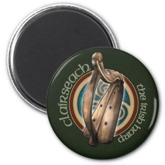 Celtic Harp Magnet