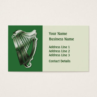 Celtic Harp Music Theme Bookmark or Business Card