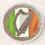 Celtic Harp Sandstone Coaster