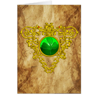 CELTIC HEART / An Old Irish Blessing Parchment Card