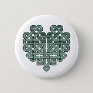 Celtic Heart Cross Stitch Button