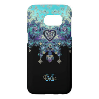 Celtic Heart Fractal Design Galaxy 7 Case