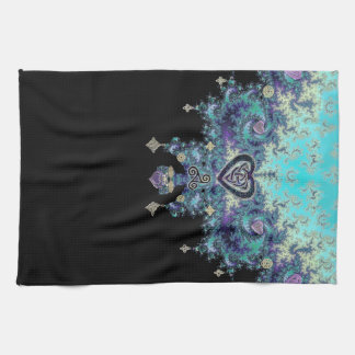 Celtic Heart Fractal Tapestry Hand Towel