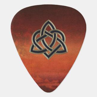 Celtic Heart Knot Faux Leather Guitar Pick