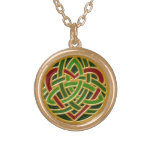 Celtic Heart Knot Necklace, gold Gold Finish Necklace