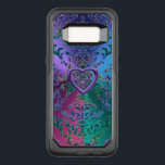 "Celtic Heart Knot on Colorful Metallic Damask OtterBox Commuter Samsung Galaxy S8 Case<br><div class=""desc"">Celtic Heart Knot on Colorful Metallic Damask. A tri-color metallic looking background with colorful damask style lace, and a purple Celtic Heart Knot. Celtic knots are an ancient Celtic traditional art form characterized by having no beginning and no end. They symbolize eternal love and the never-ending cycle of life. Celtic...</div>"
