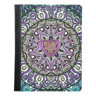 Celtic Heart Knot Tapestry Mandala iPad Case