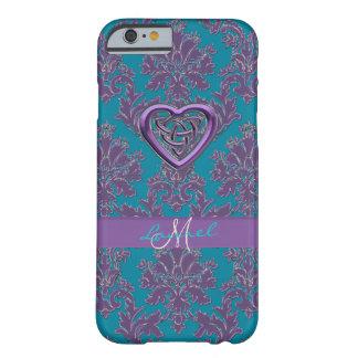 Celtic Heart Lavender Teal Damask iPhone 6 Case