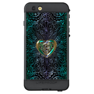 Celtic Heart Mandala In Green Gold LifeProof® NÜÜD® iPhone 6s Plus Case