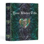Celtic Heart Mandala In Green Gold Mini Binder