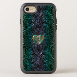 Celtic Heart Mandala In Green Gold OtterBox Symmetry iPhone 8/7 Case
