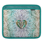 Celtic Heart Mandala In Green Gold Sleeve For iPads