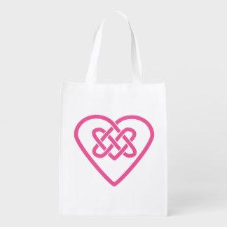Celtic Heart Reusable Grocery Bag