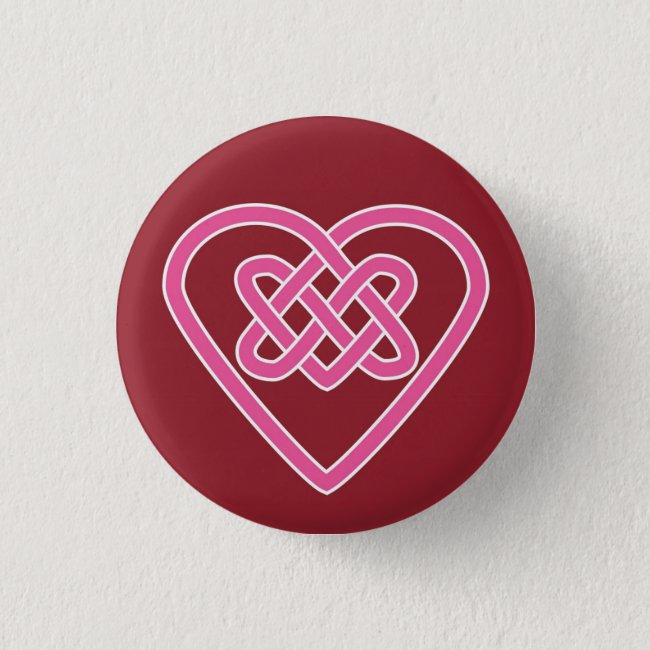 Celtic Heart Round Button